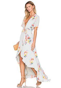 REVERSE Caught Lookin' Dress en Floral blanco   REVOLVE