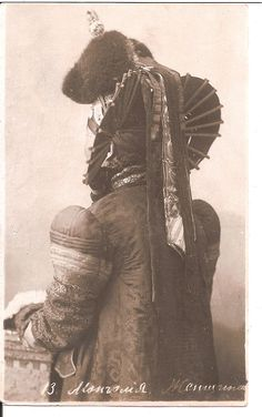 Mongolian nobility, time of Bogd Khan VIII government (1911-1924)  Fabulous, amazing, this photo totally transports me.