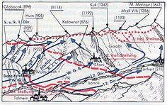 """karfreit-offensive-10-17.gif (522×329)   /// Montag: Über den Kolovrat ins slowenisch/italienische Grenzgebiet  www.gs-enduro.de  Offensive am Isonzo im Oktober 1917; Bild: Erwin Rommel in """"Infanterie greift an"""""""