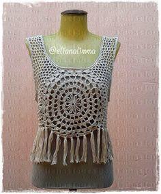louca por linhas - crochet e patchwork: Cropped Flower