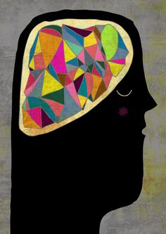 Brain Art Print by Schalle