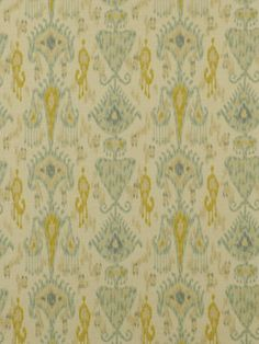 Aqua Yellow Ikat Upholstery Fabric Ikat by greenapplefabrics, $27.00