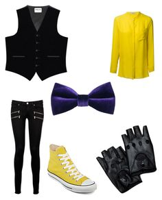 """Fnaf golden freddy outfit"" by mangle87 ❤ liked on Polyvore"