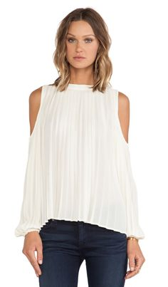 BLAQUE LABEL Cold Shoulder Top in Cream