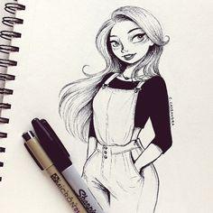 chica de tinta