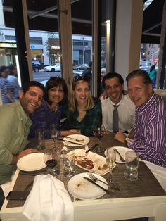 A wonderful Weedfald family dinner at Ethos Greek restaurant in NYC, September 2015...