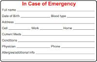 Printable Emergency Card Template Cycling Skills In Case Of Emergency Ice Card Personal Budget Template Letter Template Word Newsletter Templates Word