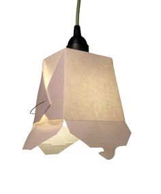 This lamp comes packaged as Chinese takeout and quickly transforms into a quasi-unique pendant. $48.00
