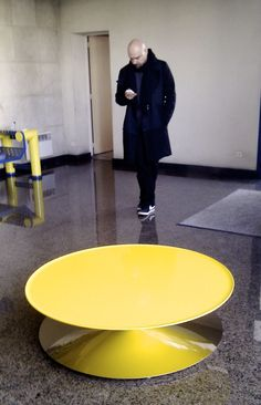 Luca Nichetto with his Float table, designed for La Chance - www. Table, Design, Furniture, Home Decor, House, Spirit, Homemade Home Decor, Tables