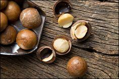 Cracked Macadamia Nuts close-up