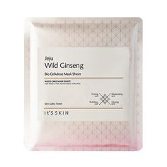It's skin Jeju Wild Ginseng Bio Cellulose Mask Sheet 1ea Features Bio Cellulose mask sheet without paraben with Jeju ginseng extract 20% for ideal skin. Vital and firming skin with Phellinus linteus extract and herb complex extract for vitality