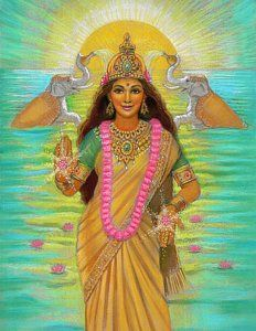 Painting - Goddess Lakshmi by Sue Halstenberg
