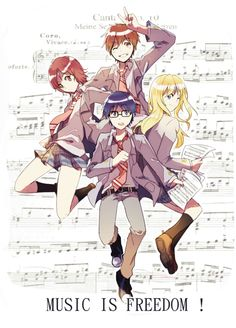 Your Lie in April - kaemonn: dying because of these kids