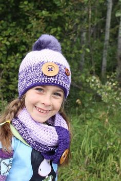 Hat and Cowl Set For Girls  Winter Hat and by WarmingHeartsCrochet