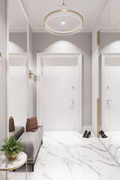 Clinic Interior Design, Home Interior, Flur Design, Home Entrance Decor, Small Apartment Design, Small Apartments, Hallway Designs, Home Room Design, Home Design Floor Plans
