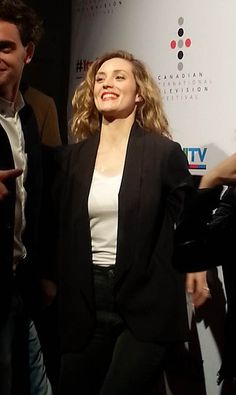 Evelyne Brochu at the Canadian International Television Festival 2014//rUDE