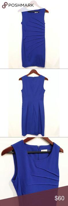 Selling this Calvin Klein Sunburst Pleated Sheath Dress on Poshmark! My username is: kimsalittlepea. #shopmycloset #poshmark #fashion #shopping #style #forsale #Calvin Klein #Dresses & Skirts