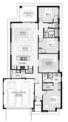 Browse our range of 3 Bedroom House Plans & Home Designs. We have plans to suit a wide range of different block sizes, configurations and frontages. New Home Designs, Home Design Plans, Simple Designs, 3 Bedroom Plan, Bedroom House Plans, 4 Bedroom House Designs, Lavatory Design, Brick Construction, Storey Homes