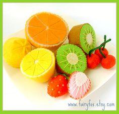 felt food pattern fruit on etsy from fairyfox