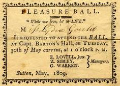Invitation to an afternoon ball 1809