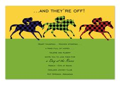 Day At The Races - Party Invitations by Invitation Consultants. (IC-NW-RLP-52 )