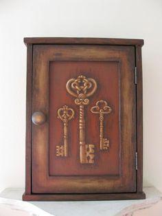 Key Cupboard / Key Cabinet / Key Holder / Wall Cabinet / Wooden Key Holder  / Key Wall Decor / Custom Order For Grudle