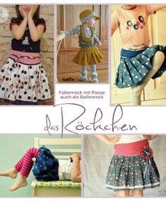 Das Röckchen ist ein toller Faltenrock mit Passe, in den Einzelgrößen 80-146 und in 2 Varianten, als geraden Faltenrock oder Ballonrock. Aus allen nicht-dehnbaren Stoffen, im Winter aus Cord oder Jeans mit Unterrock ist das Röckchen ein genauso toller Begleiter wie im Frühjahr aus leichten Baumwollstoffen. Lässig mit Chucks, elegant mit Ballerinas oder mit Stiefeln im Winter, das Röckchen passt zu jedem Anlass. Schlicht oder im Farbenmix, jedes Mädchen hat gerne einen (oder zwei, oder…