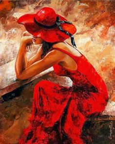 rode jurk + hoed