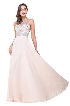 Babyonlinedress Sexy Sheer Back crystal beaded chiffon Prom dresses Vestidos  Largos 77ad621000f6