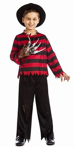 6e61ba740 Disfraz de Freddy Krueger para niño - Lo tienes para varias Edades -  Disfraces Halloween Novedades