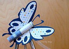 Sonjas's Schnipselstudio - Schmetterling Geldgeschenk