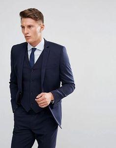 a17985691c010 ASOS DESIGN slim suit jacket in navy Suit Jacket