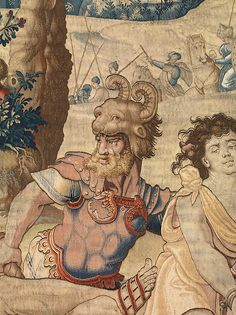 "Pieter Coecke van Aelst (Netherlandish, 1502–1550). The Story of Saint Paul: The Martyrdom of Saint Paul (detail), designed ca. 1529, woven before 1558. Woven under the direction of Paulus van Oppenem (Flemish). Patrimonio Nacional. | This work is featured in ""Grand Design: Pieter Coecke van Aelst and Renaissance Tapestry,"" on view October 8, 2014–January 11, 2015. #Coecke #tapestrytuesday #granddesign"