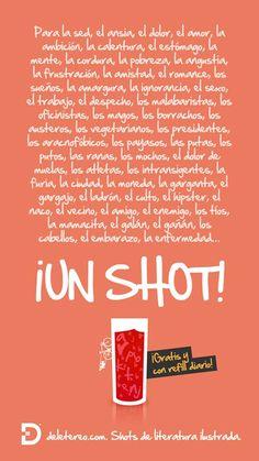 Para todo lo que quieras... ¡un shot!