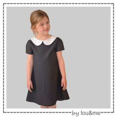 Lilas - lou and me Kids Clothes Patterns, Sewing Patterns For Kids, Sewing For Kids, Clothing Patterns, Dress Anak, Kids Outfits, Cute Outfits, Peter Pan Collar Dress, Couture Sewing