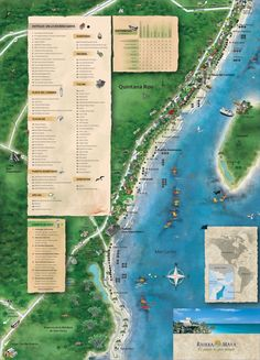 Encuentra las mejores playas de la Riviera Maya  #Playa #Beach #RivieraMaya #Mexico Riviera Maya, Cancun, Things To Do, Places To Visit, Mexico, Map, Playa Beach, Outdoor Decor, Boho