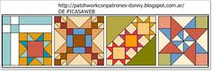 patchwork para hacer colchas diseños - Buscar con Google