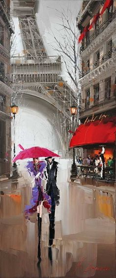 under red umbrella Modern Paris Effiel Tower Painting Picture City Buildi. - -lovers under red umbrella Modern Paris Effiel Tower Painting Picture City Buildi. Paris Kunst, Paris Art, Tour Eiffel, Maurice Utrillo, Georges Seurat, Parasols, Umbrellas, Umbrella Art, Umbrella Painting