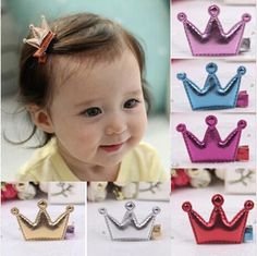 11b2885dbac 10%off 2015 Hot 4.8 3cm Cute Baby Girls Leather Xmas Gifts Party Hair Clips  Crown Princess Barrette Ribbon Hair Accessories Infant Girl Hair Accessories  ...