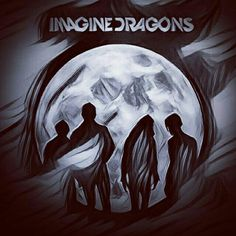 Imagine Dragons black and white