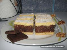Super kolač sa korama od prhkog tijesta i filom od oraha, čokolade i ruma