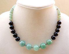 Gemstone Necklace  Modern Gemstone Necklace by BigSkiesJewellery, $57.00
