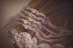 Violet Blooms Mohair Newborn tieback. Violet Mohair tieback. Photography Prop by PrincessPeaProps, $16.00