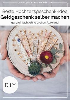 DIY money gift for wedding tinker - DIY Geschenke Mason Jar Crafts, Mason Jar Diy, Wooden Gifts, Wooden Diy, Don D'argent, Diy Gifts For Christmas, Creative Wedding Gifts, Money Gift Wedding, Gift Money