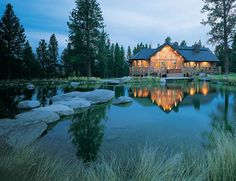 You should visit my lake house some time...