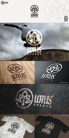 Logo design by pixelmatters #POTD99 09.11.2013 #skateboard #graphic #lotus