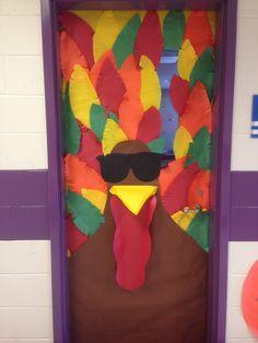 My Thanksgiving Classroom Door! The Rockin' Turkey!