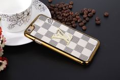 Louis Vuitton Leather Cases For iPhone8/7S/7/6S/6/Plus White
