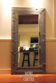 Full Size Reclaimed Wood Mirror