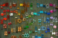Beaded drop earrings - ideas